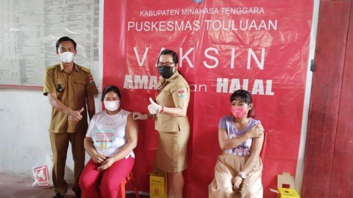 Warga Lobu Satu Minahasa Tenggara Antusias Ikut Vaksin