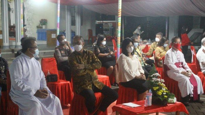 Acara ramah tamah HUT ke-10 Paroki Santa Maria Ulu Siau.