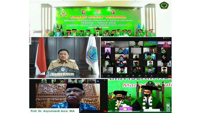 IAIN Manado Lakukan Wisuda Daring Sidang Senat Terbuka Sarjana dan Pascasarjana Periode I