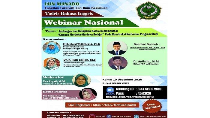 IAIN Manado Sukses Menggelar Kegiatan Webinar Nasional