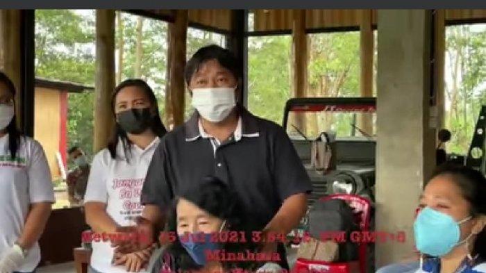 Keluarga Bupati Mitra Ikut Vaksin, James Sumendap: Jangan Takut