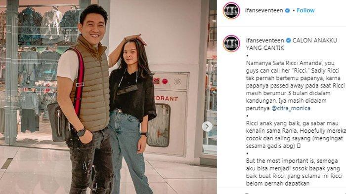 Ifan Seventeen bersama Safa Ricci Amanda anak dari Citra Monica
