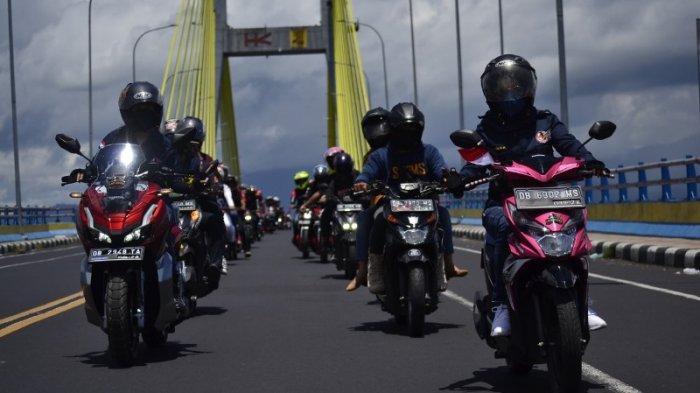 Rayakan HUT ke-76 RI, Ikatan Motor Honda Sulut Gelar Konvoi Kemerdekaan