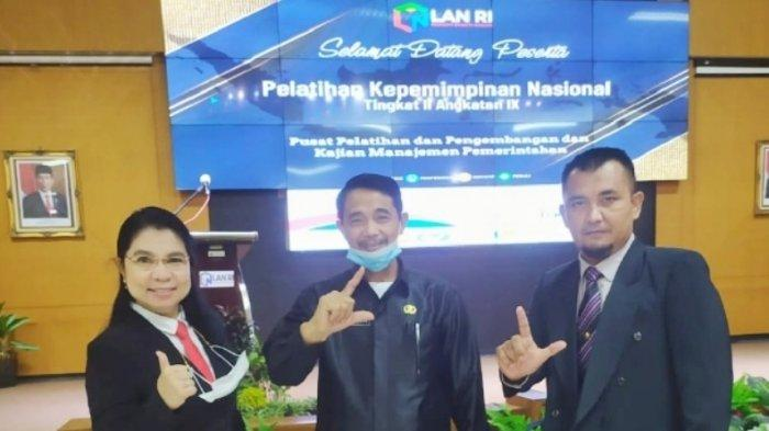 Kepala Inspektorat dan Kadis PM-PTSP Bolmong, Ikut Pelatihan Pelatihan Kepemimpinan Nasional