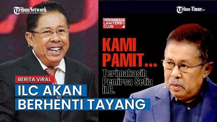 ILC Berhenti Tayang, Episode Terakhir Tadi Malam, Karni Ilyas Minta Maaf, 5 Politkus Ikut Prihatin