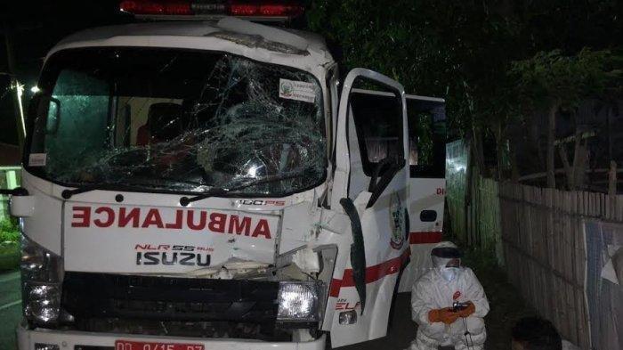 Kecelakaan Ambulans Tadi Sore, Pasien Rujukan Meninggal Dunia, Dua Orang Lainnya Selamat