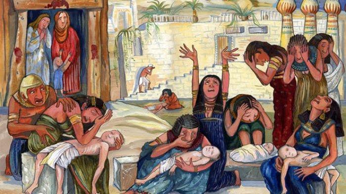 Kisah Anak Sulung Mati di Mesir, Hanya yang Ada Tanda Darah di Pintu Tidak Dibunuh Malaikat Maut