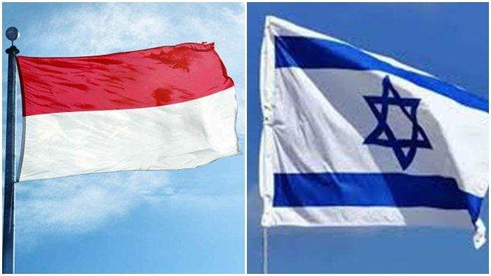 Ilustrasi bendera Indonesia dan Israel. Israel dan Indonesia disebut-sebut memiliki hubungan rahasia sejak zaman orde baru Soeharto.
