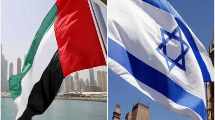 Ilustrasi Bendera Israel dan Uni Emirate Arab