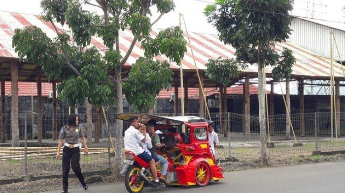 Cegah Penyebaran Covid-19, Bentor di Kotamobagu Hanya Bisa Angkut 2 Siswa Saat Pulang Sekolah