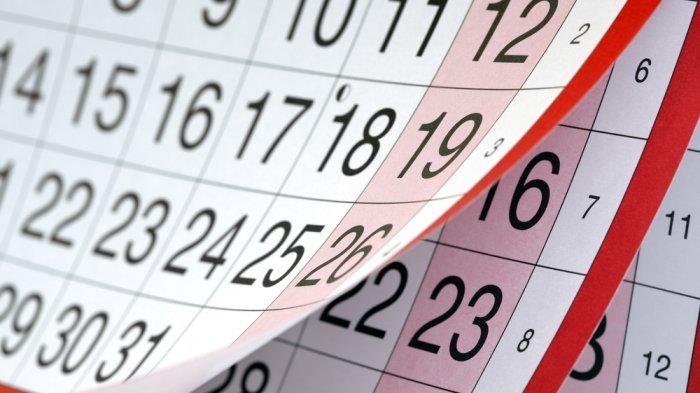 Ilustrasi kalender bulan Juni