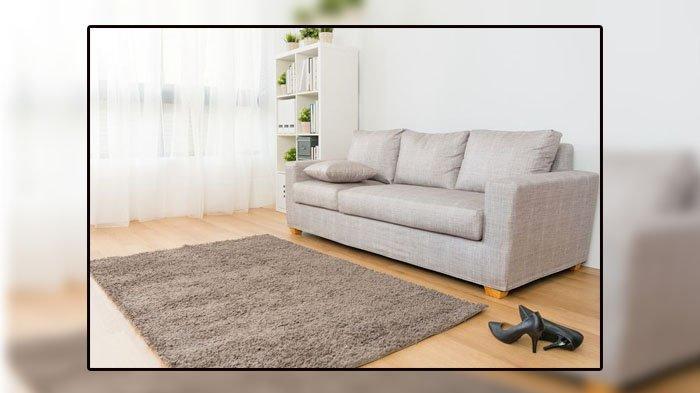 Ilustrasi karpet di ruang tamu.