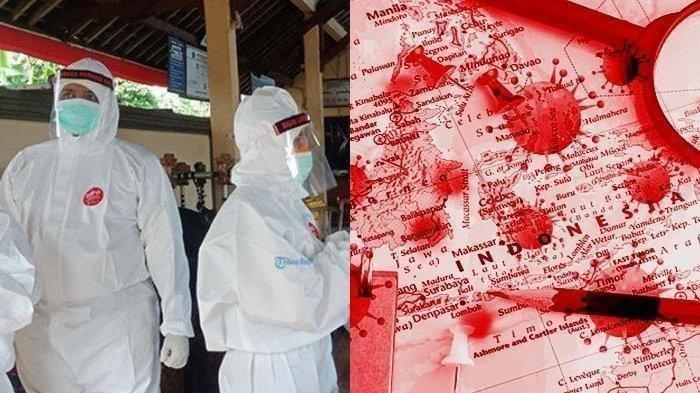 UPDATE Covid-19 di Indonesia: Sehari 12.818Kasus Baru, Rekor Selama Pandemi, Ribuan Orang Suspek