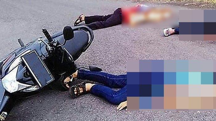 Kecelakaan Maut, Bocah 12 Tahun Tewas Bonceng Tiga, Motor Ngebut Terjun ke Sungai, Mereka Tergeletak