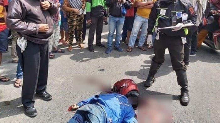 Kecelakaan Maut Pukul 06.45 WIB, Seorang Pemotor Tewas, Korban Nyalip dari Kiri Kena Ban Truk Molen