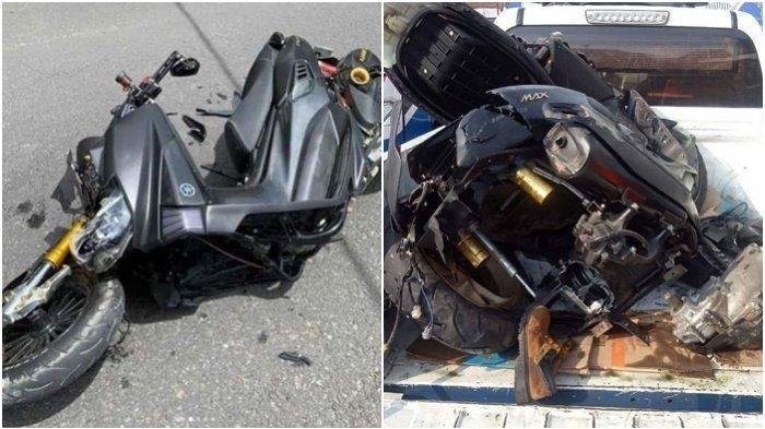 Kecelakaan Maut Tadi Pagi, Pasangan Suami Istri Tewas Ditempat, Motor Korban Tabrak Truk yang Parkir