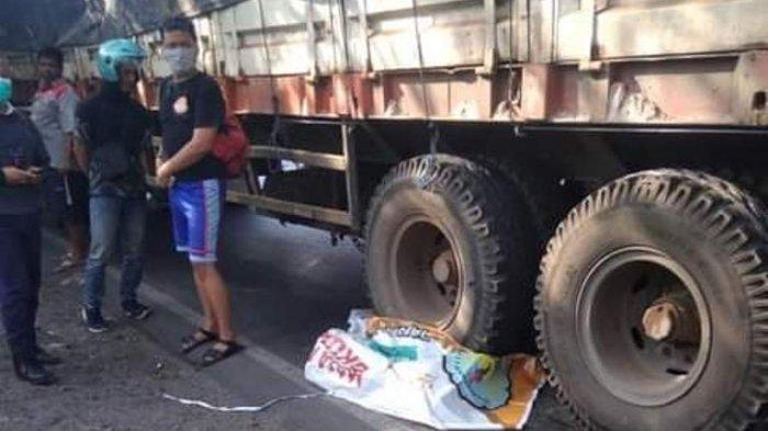 Kecelakaan Maut Tadi Siang, Pengendara Motor Tewas, Sopir Truk Melaju Ngebut Diduga Tak Bisa Kuasai