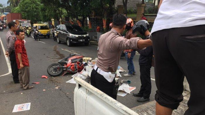 Kecelakaan Maut Hari Ini Senin 14 Juni 2021, Pemotor Tewas Terlindas Truk, Korban Gagal Menyalip