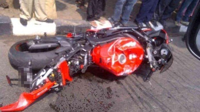 Kecelakaan Maut, Seorang Pemuda Naik Motor CBR 250 Tewas, Korban Hindari Beat Malah Menabrak Trotoar