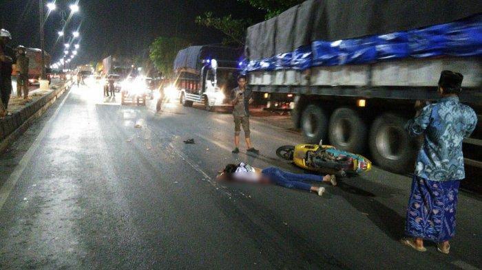 Kecelakaan Maut Pukul 17.45 WIB, Seorang Remaja Tewas, Motor Ngebut Menabrak Truk saat Melambung