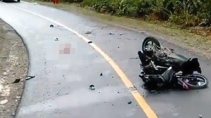 Kecelakaan Maut, Pengendara Vixion Tewas Mengenaskan, Motor Korban Serempet Smash Lalu Ditabrak Truk