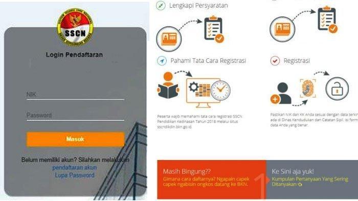 Sscn.bkn.go.id - 4 Langkah Log In di Situs Resmi Pendaftaran CPNS 2018, Jangan Salah Masukkan NIK!
