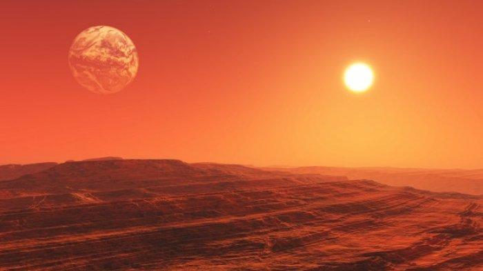 Ilustrasi planet mars.