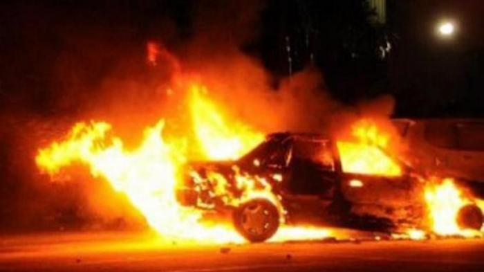 Kecelakaan Lalu Lintas, Mobil Berpenumpang 9 Orang Terbakar di Tol, Ini Kronologinya