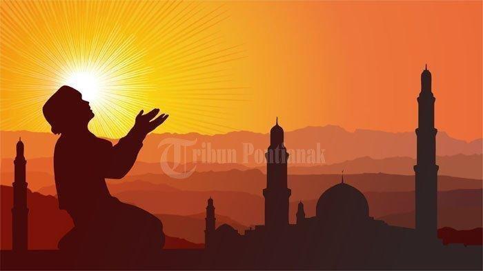 Ilustrasi orang berdoa.