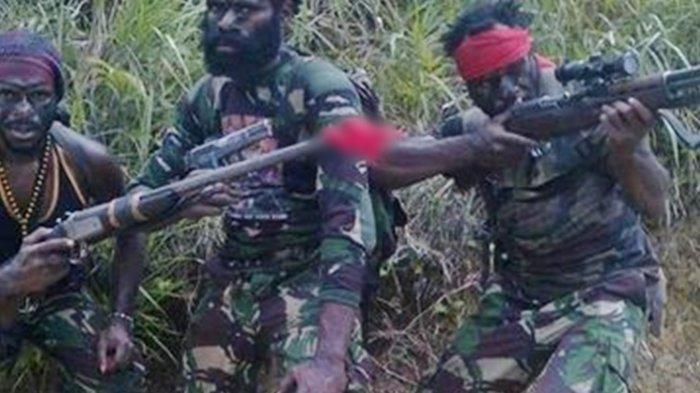 Ilustrasi Pasukan KKB Papua serang TNI-Polri.