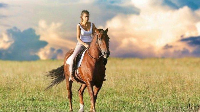 ilustrasi naik kuda