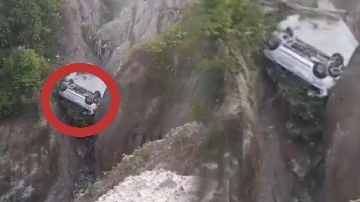 Kecelakaan Pukul 04.30 WIB, Mobil Daihatsu Xenia yang Dikendarai Polisi Masuk Jurang