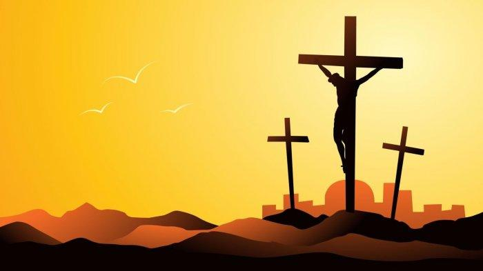 Ilustrasi Yesus di atas Kayu Salib