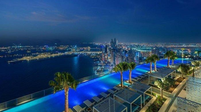 Rasakan Kemewahannya, Address Beach Resort di Dubai Miliki Infinity Pool Tertinggi di Dunia