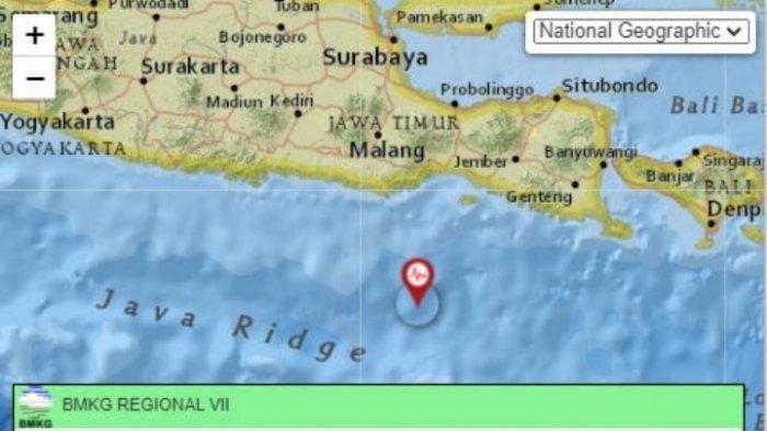 Info BMKG gempa bumi terkini di Jawa Timur, Sabtu 7 Agustus 2021 pagi.