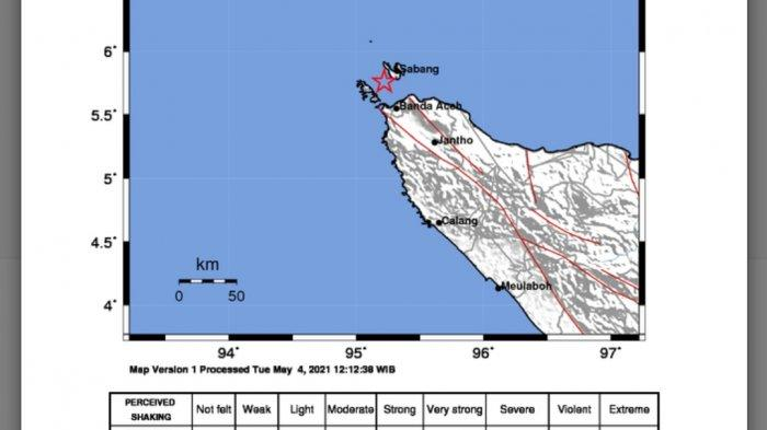 Gempa Malam Ini Selasa (4/5/21), Info BMKG Ini Magnitudo dan Lokasinya