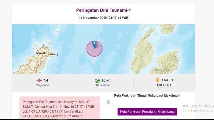 Gempa Terjadi di Kota Manado Pukul 00.17 Wita, Ada yang Sembayang, Teriak Kaget Tengah Malam