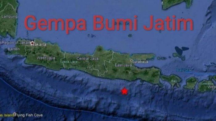 Gempa Terkini Guncang Jatim Senin (13/09/21) Pagi, BMKG Ingatkan Potensi Tsunami, Ini Magnitudonya