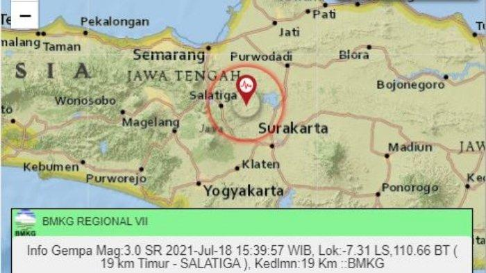 Gempa Terkini Sore Ini Minggu (18/7/2022) di Darat, Berikut Info Magnitudo dan Titik Koordinatnya