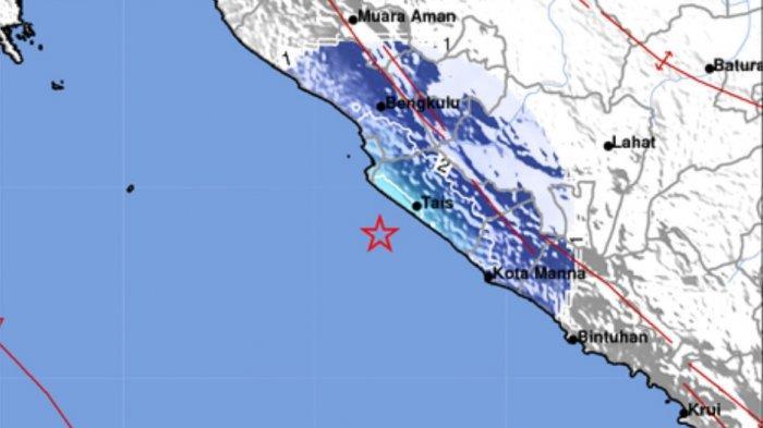 Tadi Malam Ada Gempa Bumi, Terjadi Sebelum Waktunya Sholat Tarawih, Ini Magnitudo dan Lokasinya