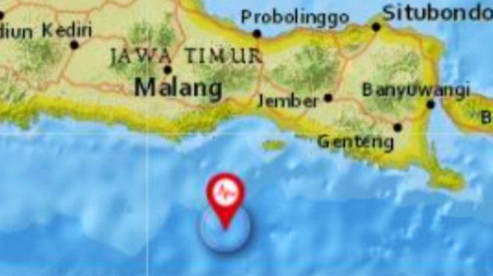 Info Terkini BMKG Gempa Bumi Guncang Jawa Timur,  Episenter di Laut, Ini Data Skala Magnitudo
