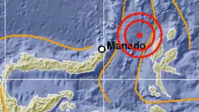 Gempa Bumi Hari Ini Pukul 01 43 Wib Bmkg Beri Penjelasan Ini Lokasi Dan Magnitudo Guncangan Tribun Manado