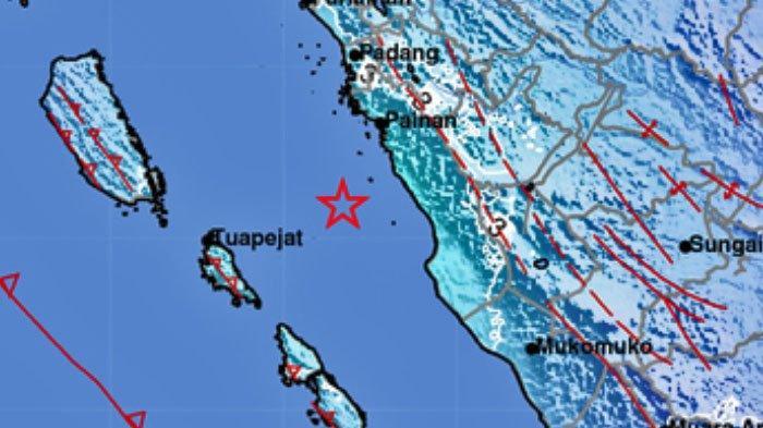 Gempa Bumi 5.3 SR Terjadi di Pesisir Selatan, Pukul 11.41 WIB Rabu 18 November 2020, Data BMKG