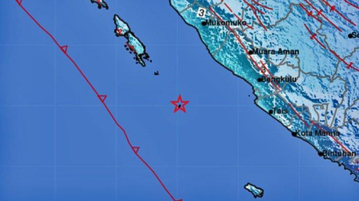 GEMPA BUMI Berkekuatan 5.7 SR, Terjadi Tadi Pagi Pukul 07.39 WIB, Ini Lokasinya, Data BMKG