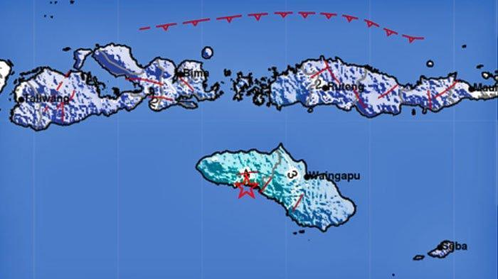 Gempa Bumi Pukul 10.07 WIB, 4 Daerah Merasakan Guncangan, Skala MMI III-IV, Terjadi Dekat Wanokaka