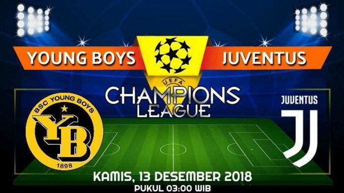 Link Live Streaming dan Prediksi Pertandingan Young Boys vs Juventus, Kamis 13 Desember 2018