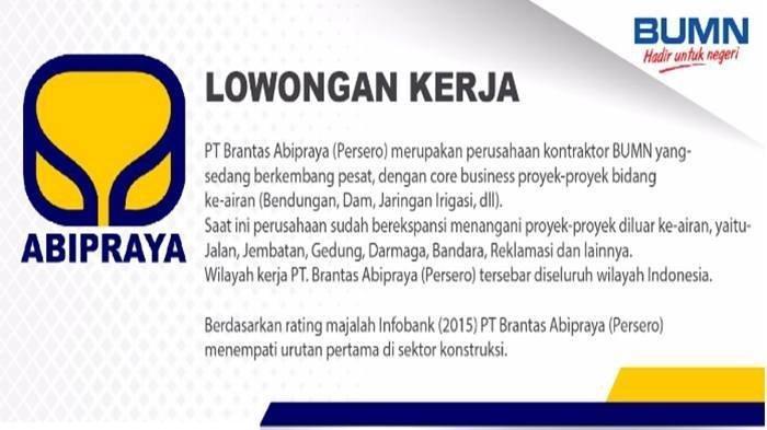 Info Lowongan Kerja Bumn Butuh Karyawan 4 Posisi Hukum Manajemen Akuntan Daftar Online Di Sini Tribun Manado