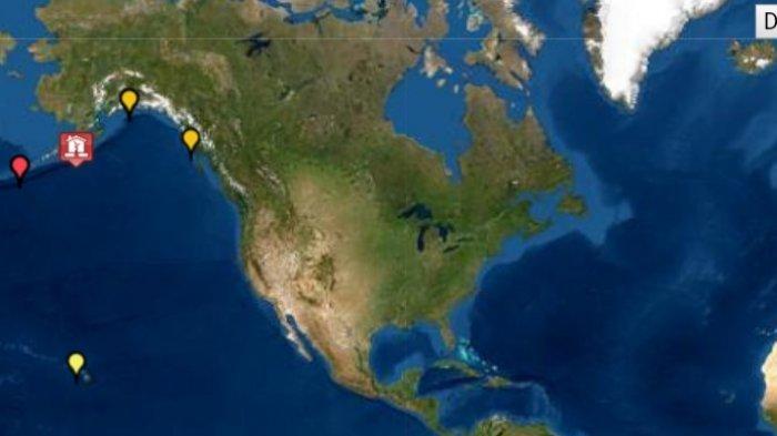 Info peringatan tsunami dari Tsunami Warning System US setelah gempa magnitudo 8.2 di Alaska, Kamis (29/07/21).