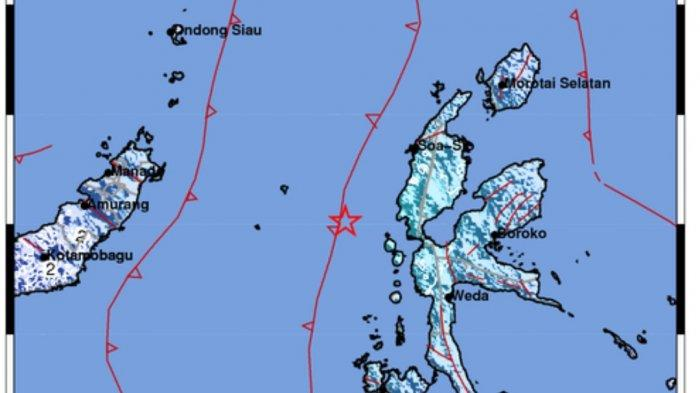 Tadi Malam Terjadi Gempa Bumi 5.3 SR, Ini Lokasi & Kekuatannya, BMKG Catat 3 Daerah Merasakan