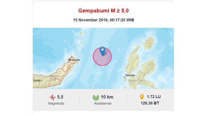 Gempa Maluku Utara Bermagnitudo 7,1 pada Jumat (15/11/2019), Ada28 Kali Gempa Susulan